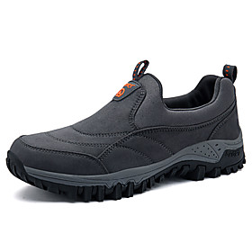 Men's Sneakers Hiking Shoes Breathable Comfortable Hiking Climbing Walking Autumn / Fall Spring Black Blue Grey