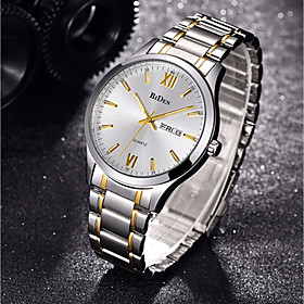Men's Steel Band Watches Quartz Silver 30 m Creative Luminous New Design Analog Sparkle Fashion - Gold / Silver / White White Silver Two Years Battery Life