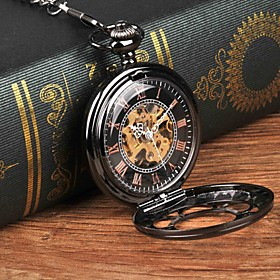 Men's Pocket Watch Mechanical manual-winding Casual Casual Watch Analog Black / Large Dial / Steampunk