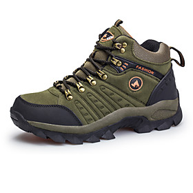 Men's Sneakers Hiking Shoes Hiking Boots Waterproof Breathable Comfortable High-Top Hiking Climbing Walking Autumn / Fall Spring Winter Brown Army Green Blue