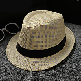 Basketwork / Straw Hats / Headpiece with Bandage 1 Piece Daily Wear / Outdoor Headpiece