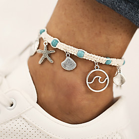Ankle Bracelet Women's Body Jewelry For Gift Daily Cord Beige 1pc