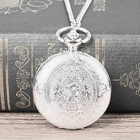Men's Pocket Watch Quartz Casual Casual Watch Analog Silvery / White / Large Dial