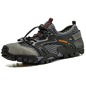 Men's Sneakers Hiking Shoes Lightweight Breathable Anti-Slip Hiking Climbing Walking Autumn / Fall Summer Black Brown Army Green Grey