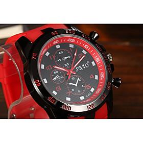 Men's Sport Watch Quartz Fashion Casual Watch Analog White Black Yellow / One Year / Silicone
