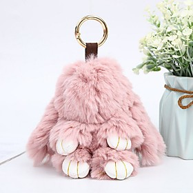 Keychain Rabbit Animals Casual Fashion Ring Jewelry Light Pink / Royal Blue / Lavender For Gift School
