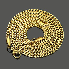 Men's Chain Necklace Classic Mariner Chain Punk Rock Stainless Steel Gold Silver 60 cm Necklace Jewelry 1pc For Daily Street