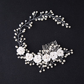 Manual Hair Accessories Alloy Wigs Accessories Women's 1 pcs pcs N / A cm Party / Daily Wear / Outdoor Ordinary / Headpieces / Modern Contemporary Party / Easy