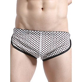 Men's Basic Beach board shorts Swimsuit Print Geometric Swimwear Bathing Suits Brown