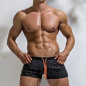 Men's Bottoms Swimsuit Solid Colored Swimwear Bathing Suits Black Royal Blue