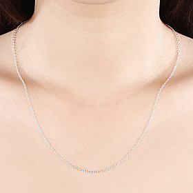 Men's Women's Chain Necklace Classic Simple Classic Basic Fashion Copper Silver Plated Silver 46,51,56 cm Necklace Jewelry 1pc For Daily Work