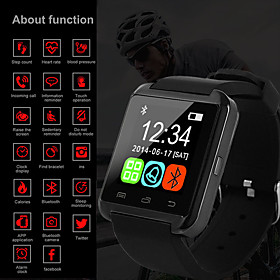 Men's Digital Watch Digital Outdoor Water Resistant / Waterproof Digital White Black Red / One Year / Rubber / Calendar / date / day / LCD