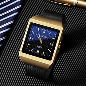Men's Dress Watch Quartz Luxury Casual Watch Analog GoldenBlack GoldenWhite Gold / One Year / Rubber / Large Dial