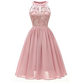 Women's A-Line Dress Midi Dress - Sleeveless Dusty Rose Hot Slim Blushing Pink Wine Lavender Navy Blue Gray S M L XL XXL