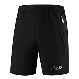 Men's Basic Shorts Pants Solid Colored Drawstring Black L XL XXL
