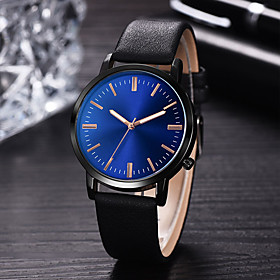 Men's Dress Watch Quartz Leather Black / Blue / Brown 30 m Water Resistant / Waterproof Creative New Design Analog - Digital Classic Fashion - Black Brown Blue