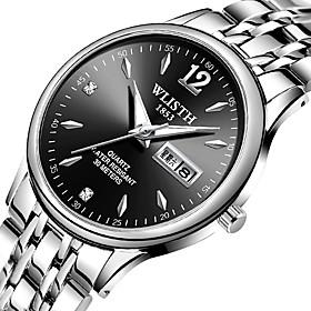 Men's Dress Watch Quartz Luxury Casual Watch Analog Black Silver Dark Blue / One Year / Stainless Steel