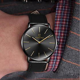 Men's Dress Watch Quartz Minimalist Casual Watch Analog Black / Blue black / gold White / Brown / One Year / Leather