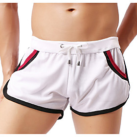 Men's Basic Chinos Shorts Pants Multi Color Drawstring White Black Blue M L XL
