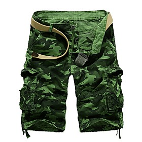 Men's Basic Loose Tactical Cargo Bermuda shorts Pants Patterned Blue Army Green Fuchsia US32 / UK32 / EU40 US34 / UK34 / EU42 US36 / UK36 / EU44
