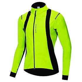 WOSAWE Men's Windbreaker Cycling Jacket Winter Fleece Bike Jacket Raincoat Thermal Warm...