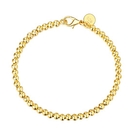 Men's Chain Bracelet Classic Precious Stylish Brass Bracelet Jewelry Gold / Silver / Rose Gold For Daily Work / Silver Plated / Gold Plated