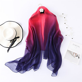Sleeveless Shawls / Scarves Chiffon / Tulle Wedding / Party / Evening Women's Wrap / Women's Scarves With Color Block