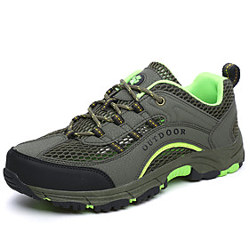 Men's Sneakers Hiking Shoes Breathable Anti-Slip Comfortable Hiking Climbing Travel Spring Summer Army Green Royal Blue Grey