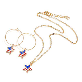 Women's Jewelry Set European Casual / Sporty Earrings Jewelry Gold For Street Festival 1 set Gender:Women's; Quantity:1 set; Style:Casual / Sporty,European; Jewelry Type:Jewelry Set; Occasion:Festival,Street; Material:Alloy; Shipping Weight:0.02; Package Dimensions:5.05.01.0; Net Weight:0.005; Listing Date:04/21/2020