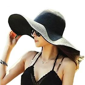Women's Basic Straw Straw Hat Sun Hat-Solid Colored Summer Fall Yellow Fuchsia Light Blue