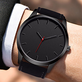 Men's Dress Watch Quartz Stylish Leather Black / Brown 30 m Water Resistant / Waterproof Creative Casual Watch Analog Casual Fashion - Black Brown One Year Bat