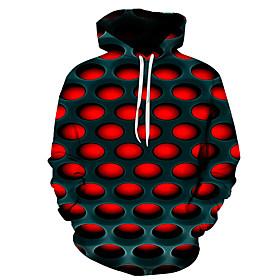 Men's Hoodie 3D Hooded Basic Hoodies Sweatshirts  Purple Red Yellow