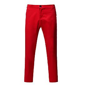 Men's Basic Slim Chinos Pants Solid Colored White Black Red US38 / UK38 / EU46 US40 / UK40 / EU48 US42 / UK42 / EU50