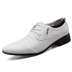 Men's Formal Shoes Comfort Shoes Spring  Summer Business / Classic Party  Evening Office  Career Oxfords PU Non-slipping Wear Proof White / Black / Brown / Riv