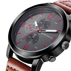 Men's Dress Watch Quartz Formal Style Fashion Casual Watch Analog Black Khaki Green / One Year / Stainless Steel / Leather / Nylon