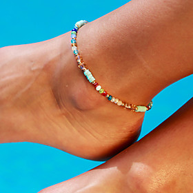 Ankle Bracelet Women's Body Jewelry For Party Daily Alloy Gold 1pc