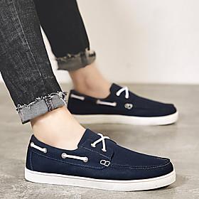 Men's Summer / Fall Casual / British Daily Home Sneakers Walking Shoes Mesh / Elastic Fabric Black / Dark Blue