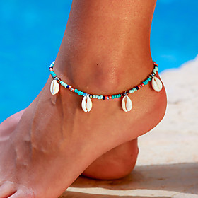 Ankle Bracelet Women's Body Jewelry For Party Daily Shell Alloy White