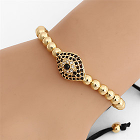 Men's Bead Bracelet Vintage Bracelet Earrings / Bracelet Braided Evil Eye Simple Classic Vintage Ethnic Fashion Alloy Bracelet Jewelry Black / Silver / Rose Go