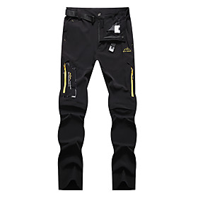 Men's Hiking Pants Convertible Pants / Zip Off Pants Summer Outdoor Waterproof Breathable Quick Dry Stretchy Elastane Pants / Trousers Bottoms Running Hunting