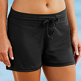 Women's Swim Shorts Elastane Bottoms Breathable Swimming Beach Water Sports Patchwork Summer