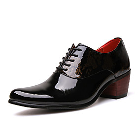 Men's Formal Shoes Faux Leather Spring  Summer / Fall  Winter Oxfords Breathable Black / Dark Blue / Party  Evening / Party  Evening