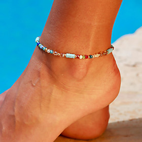 Ankle Bracelet Small Women's Body Jewelry For Party Daily Alloy Gold 1pc