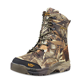 Men's Hiking Shoes Hunting Shoes Hiking Boots Waterproof Windproof Breathable Rain Waterproof Camo / Camouflage Hunting Hiking Autumn / Fall Spring BrownGray /
