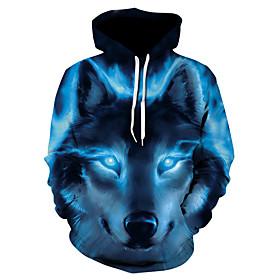 Men's Hoodie Jacket 3D Hooded Basic Hoodies Sweatshirts  Royal Blue