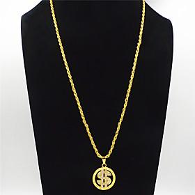Men's Women's Clear Cubic Zirconia Pendant Necklace Necklace European Hip Hop Zircon Chrome Gold 70 cm Necklace Jewelry 1pc For Wedding Street Formal Masquerad