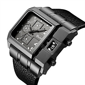 Men's Dress Watch Quartz Vintage Style Luxury Casual Watch Analog Black / White Black Red / One Year / Stainless Steel / Leather