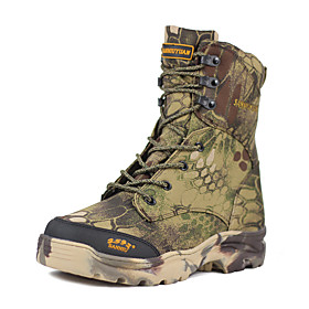 Men's Hiking Shoes Hunting Shoes Hiking Boots Waterproof Windproof Breathable Rain Waterproof Camo / Camouflage Hunting Hiking Autumn / Fall Winter Army Green