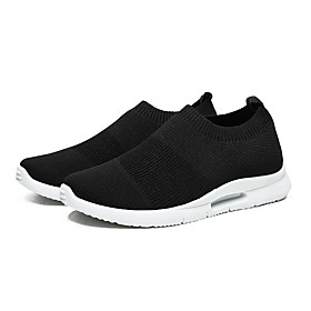 Men's Summer Sporty / Casual Athletic Daily Trainers / Athletic Shoes Running Shoes / Walking Shoes Mesh Breathable White / Black Category:Trainers / Athletic Shoes; Upper Materials:Mesh; Season:Summer; Gender:Men's; Activity:Running Shoes,Walking Shoes; Toe Shape:Round Toe; Style:Casual,Sporty; Outsole Materials:Rubber; Occasion:Daily,Athletic; Closure Type:Loafer; Function:Breathable; Shipping Weight:0.5; Listing Date:05/27/2020; Foot Length:; Size chart date source:Provided by Supplier.
