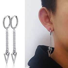 Men's Earrings Classic Mini Stainless Steel Earrings Jewelry Silver For Christmas Party Anniversary Carnival Festival 1pc